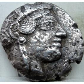 Moeda Antiga Imperio Grego Tetradracma Prata Athena+coruja