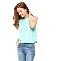 Anna Flynn - Blusa Menta Cuello Redondo - Verde - Nb516045
