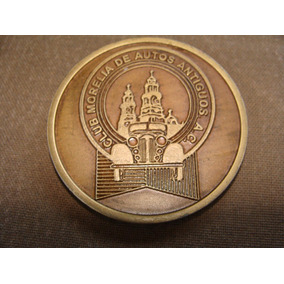 Medalla Del Club Morelia De Autos Antiguos, 5.6 Cm De Diamet