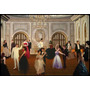 Bailando En Antiguo Salón De Baile Danza - Lámina 45 X 30 Cm