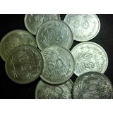 Una Moneda 50 Centavos Resplandor Plata Ley 0.720 Bonito