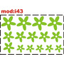Adesivo I43 Flores Florezinhas Florzinhas Quarto Menina