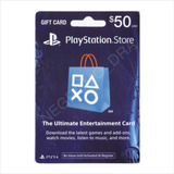 Código Playstation Card 50 Usa Vía Email - Para Ps3 Ps4 Vita