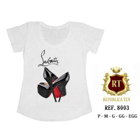 T-shirts Personalizadas Sapatos Shoes Loubouti Preto E Red