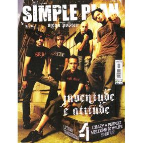 Revista Pôster Simple Plan Novíssima = Gigante 52cm X 81cm!!