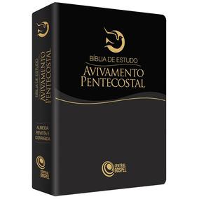Bíblia De Estudo Avivamento Pentecostal Preta