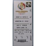 Boleto Copa América Centenario 2016/ Chile V/s Argentina