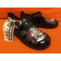 Bellas Sandalias Huaraches Plástico Panam Monster High No.21