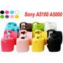 Funda De Camara Sony Alpha A5000 A5100 Silicona Protectora