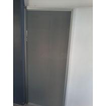 Puerta Corrediza Vidrio Con Marco Aluminio Alta Gama Moderna