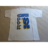 Remera De Boca Juniors Campeon Apertura 1992