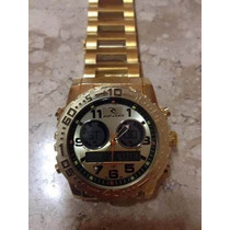 Relogio Masculino Gold Atlantis Ripcurl A3228 Fundo Dourado