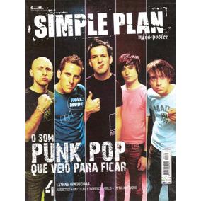 Revista Pôster Simple Plan Raríssima = Gigante 52cm X 81cm!!