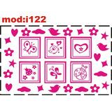Adesivo I122 Quadros Quadrinhos Borboleta Borboletinha