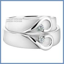 Argollas De Matrimonio Mod. Isabelle Oro Blanco 10k Solido