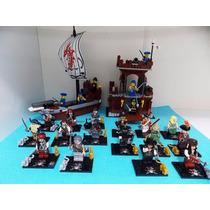 Piratas Do Caribe Barco Pirata Forte Bonecos Lego Compatível