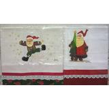 Panos De Prato Pintados A Mão - Papai Noel Vermelho