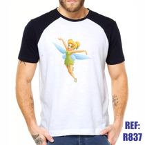 Camisa Raglan Sininho Peter Pan Desenho Estilo Swag Thug