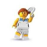 Juguete Lego Serie 3 Minifiguras Mujer Jugador De Tenis Min