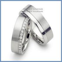 Argollas De Matrimonio Mod. Minerva En Oro Blanco 14k Solido