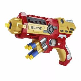 Kit 2 Lançador Nerf Homem De Ferro Pistola Arma Atira Dardos