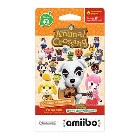 Paquete 6 Tarjetas Amiibo Animal Crossing Nintendo Wii U