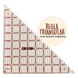 Regla Triangular Crek Para Patchwork En Casa Olguín Maquinas