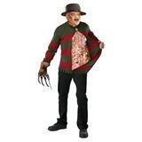 Disfraz Freddy Krueger Suéter Con El Pecho De Almas - Stand