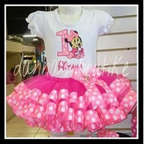 Disfraz Tutu Minnie Rosa Y Roja Con Liston!!