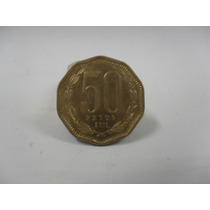 Moeda 50 Pesos 2011 Chile Usada