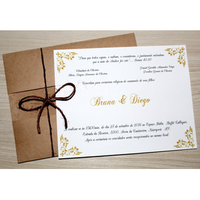 Convite De Casamento Rustico - Super Barato