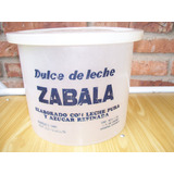 Antiguo Envase Plastico De Dulce De Leche Zabala