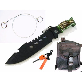 Kit Supervivencia Cuchillo +pedernal +sierra Cadena Piernera