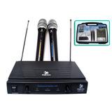 Micrófonos Inalambricos Dobles Kapton Kmi-220. Gran Alcance