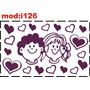 Adesivo I126 Jovens Casal Irmãos Crianças Adolescentes