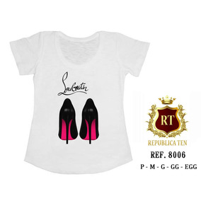 T-shirts Personalizadas Sapatos Shoes Pink E Preto Rosa