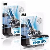 Lâmpada Xenon Diamond H8 + H7 + H1 Philips 5000k