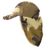 Chapéu Boné Australiano Camuflado Exército C/ Protetor