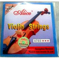 Juego De Cuerdas Para Violin Alice A703 - Todas Las Medidas
