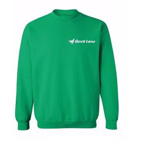 Buzo De Friza Verde Bordado Personalizado