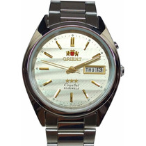 Orient Prata Automatico 21 Jewels - Cristal 3 Estrelas