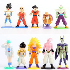 Kit 10 Bonecos Dragon Ball Z Son Goku Action Figure