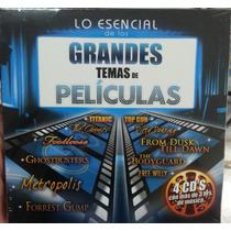 Lo Esencial De Los Grandes Temas De Peliculas 4 Cd´s. Nuevo