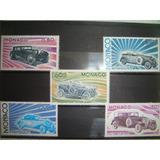 Estampillas Monaco Autos Clasicos Antiguos 1975 Serie De 5