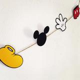 Guirnalda Banderín De Mickey Mouse Cumpleaños Fiesta Deco