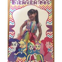 Cartel Bienvenida Poster Personalizado Equestria Girls