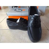 Zapato Colegial Ferli Niño (náutico Con Cordón)