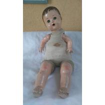 Muñeco Bebe Antiguo De Composición Cartón Piedra 30