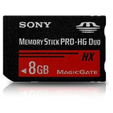 Cartão Memória Memory Stick Pro-hg Duo Hx 8gb Psp-câmera