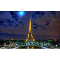 La Torre Eiffel Tela Canvas 80x50cm Exelente Calidad